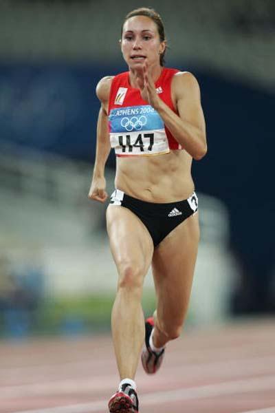 Kim Gevaert (BEL) in action in the women's 100m (Getty Images)