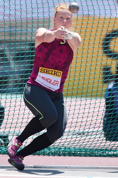 Betty Heidler, winner of the hammer in Tokyo (Getty Images)