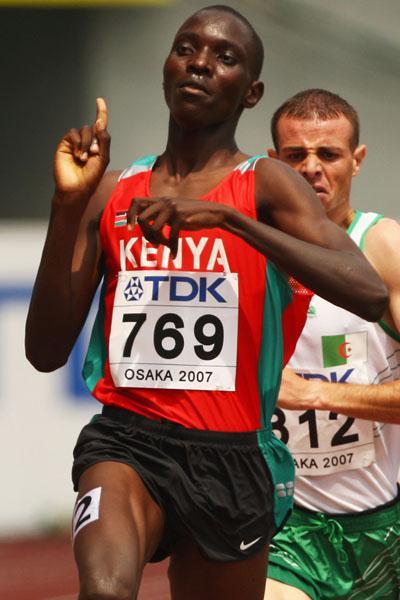 Asbel Kiprop (KEN) advances easily in the men's 1500m (Getty Images)