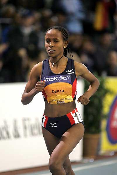 Meseret Defar - just shy of 3000m World Indoor record in Boston (Victah Sailer)