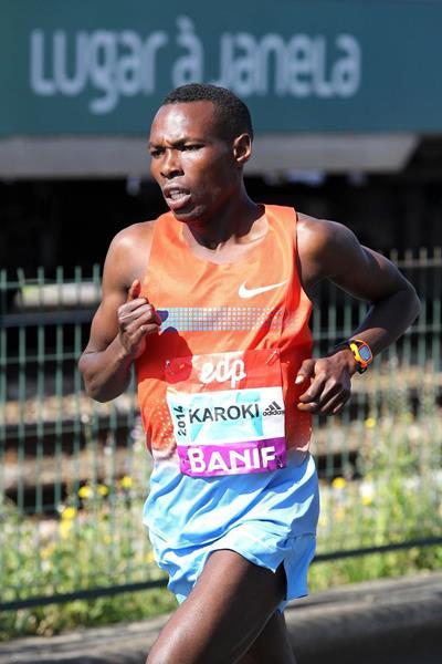 Kenyan distance runner Bedan Karoki on his way to victory (Andrew McClanahan / organisers)