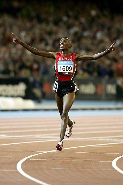Augustine Choge triumphant over 5000m - Melbourne (Getty Images)