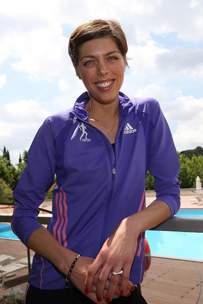 Blanka Vlasic at the pre-event press conference for the 2013 IAAF Diamond League meeting in Rome (Gianfranco Colombo)
