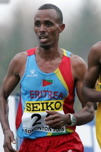 Yonas Kifle of Eritrea at the 2005 World Half Marathon Championships (Getty Images)
