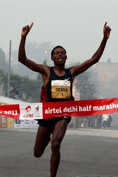59:30 PB for Lelisa Desisa in New Delhi (Airtel Delhi Half Marathon Organisers)