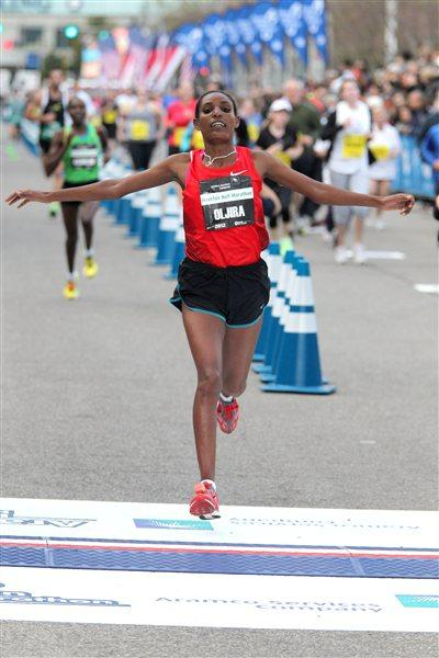 2012 Houston Half Marathon champion Belaynesh Oljira (Victah Sailer)