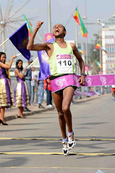 A big win for Museneh Girimaw at the Great Ethiopian Run (Organisers)