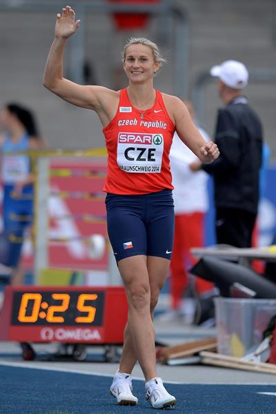 Barbora Spotakova at the 2014 European Athletics Team Championships (Getty Images)