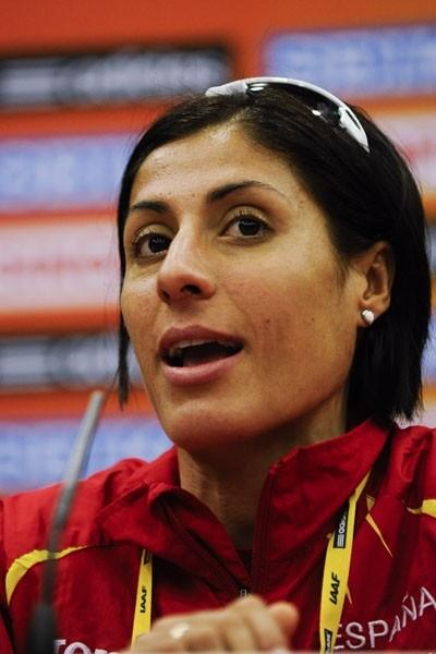 Alessandra Aguilar of Spain at the IAAF Press Conference for the World Cross Country Championships in Punta Umbria (Getty Images)