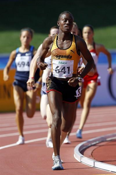 Annet Negesa sets a Ugandan junior record in the 800m semi finals (Getty Images)