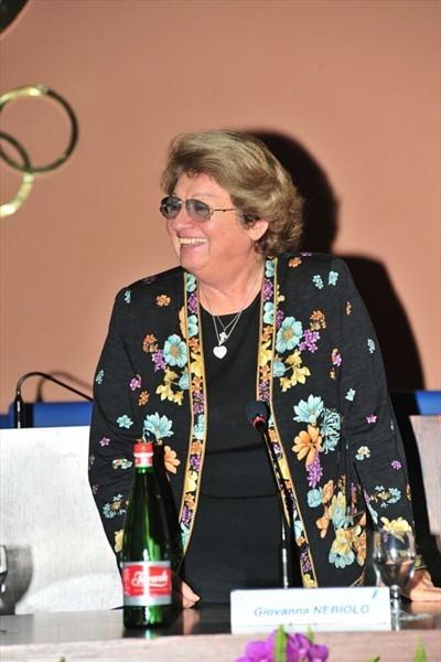 Giovanna Nebiolo at a ceremony in Rome on the tenth anniversary of the death of former IAAF President Primo Nebiolo (Marco Sicari)