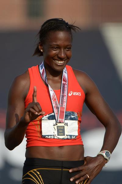 Sharon Day, winner of the Heptathlon at the 2013 US Championships (Kirby Lee)