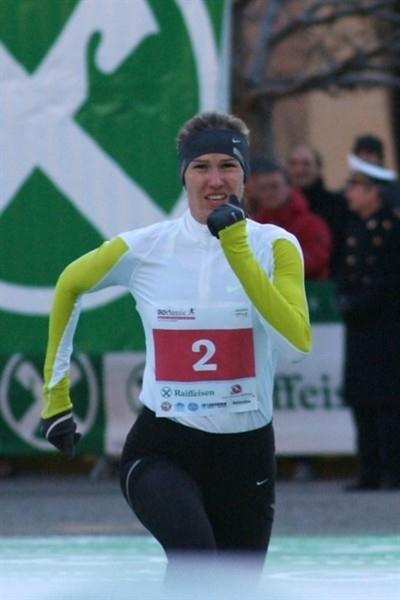 Gulnara Samitova Galkina winning in Bolzano (Lorenzo Sampaolo)