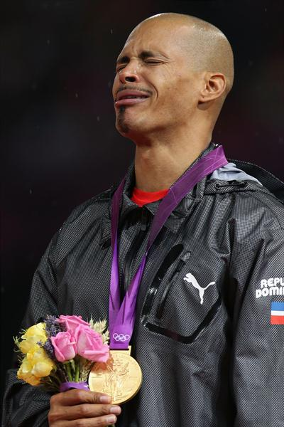 Tears of Joy for the newly crowned Olympic champion Felix Sanchez (Getty Images)