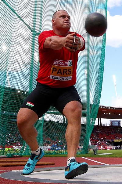 Krisztian Pars at the 2014 European Athletics Championships (Getty Images)