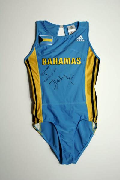 Tonique Williams-Darling's 2005 World Championships bodysuit (IAAF)