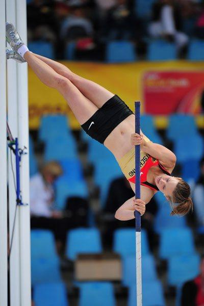 Desiree SINGH of Germany in action during the Womens Pole Vault qualification - Day Two - WYC Lille   (Getty Images)