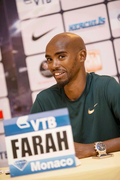 Mo Farah at the Monaco Diamond League press conference (Philippe Fitte)