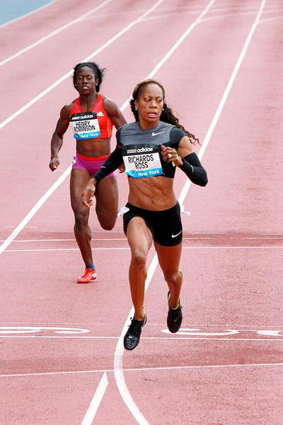 Sanya Richards-Ross wins at the 2012 adidas Grand Prix in New York (Victah Sailer)