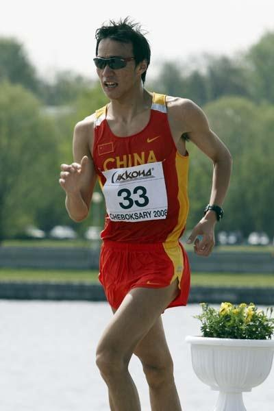 Din Chen of China competes in the Junior Men's 10km race (Getty Images)