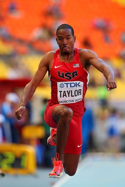 Christian Taylor in the mens Triple Jump at the IAAF World Championships Moscow 2013 (Getty Images)