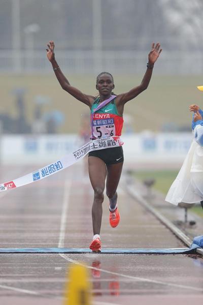 Joyce Chepkurui anchors Kenya to a title defence at the Chiba Ekiden (Kazuo Tanaka/Agence SHOT)