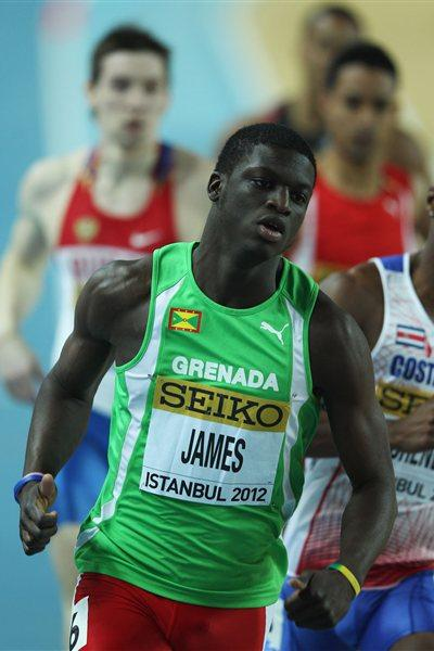 Kirani James of Grenada competes in the Men's 400 Metres semi final during day one - WIC Istanbul (Getty Images)