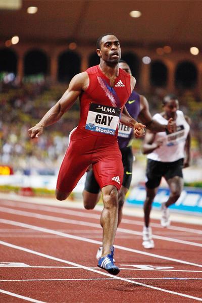 Tyson Gay - 19.72 win in Monaco (Philippe Fitte)