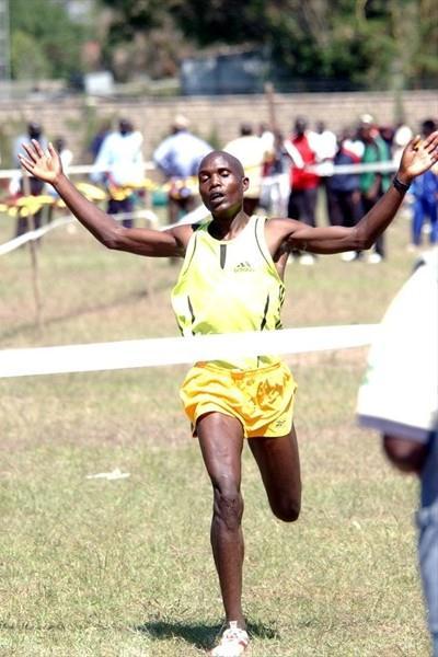 Philip Langat wins the senior men's race (Elias Makori)