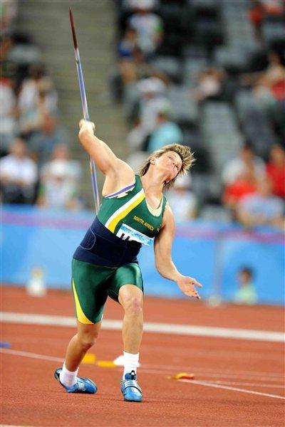 Sunette Viljoen extended her own African record to 66.47m in Shenzhen (Jiro Mochizuki)