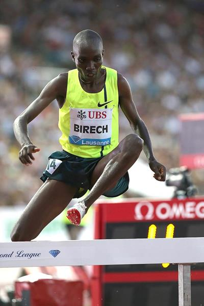 Jairus Birech at the 2014 IAAF Diamond League meeting in Lausanne (Giancarlo Colombo)