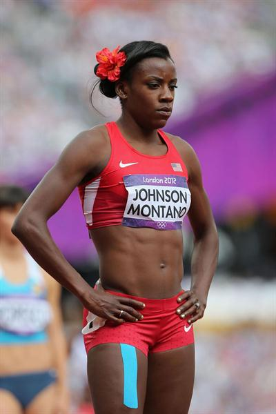 Alysia Johnson Montano of the United States looks on after competing in the Women's 800m Round 1 Heats on Day 12 of the London 2012 Olympic Games on 08 August 2012 (Getty Images)