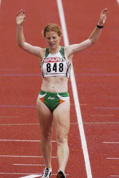 Gillian O'Sullivan at the 2002 European Championships (Getty Images)