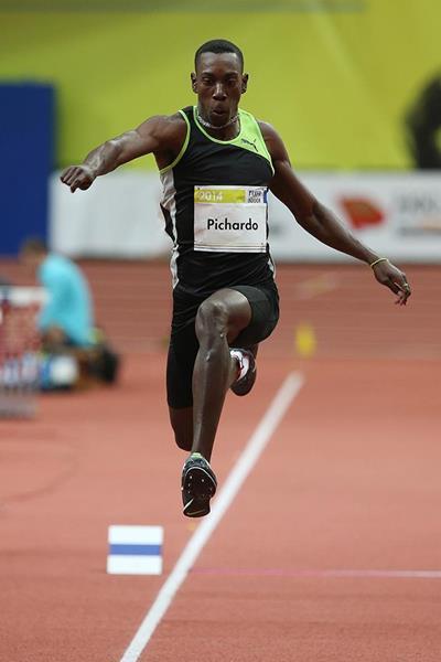 Pedro Pablo Pichardo jumping at the 2014 Prague indoor meeting (Praha Indoor 2014 / Pavel Lebeda )