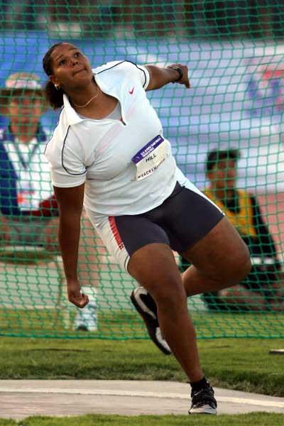 Aretha Hill throwing in the women's Discus - US Trials (Getty Images)