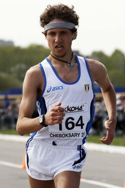 Federico Tontodonati of Italy competes in the Junior Men's 10km race (Getty Images)