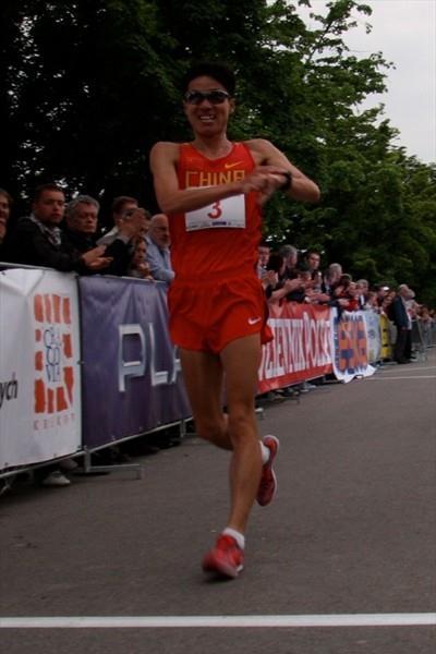 China's Chu Yafei wins the Krakow 10Km (Krakow organisers)