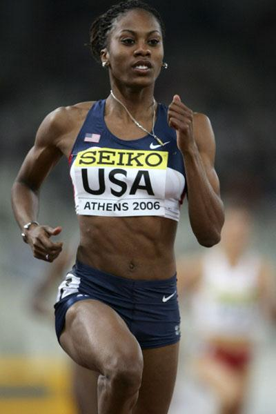 Sanya Richards - 48.70 Area record in Athens! (Getty Images)
