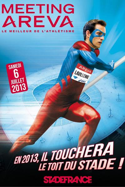 Renaud Lavillenie advertising poster for the 2013 IAAF Diamond League meeting in Paris (organisers)