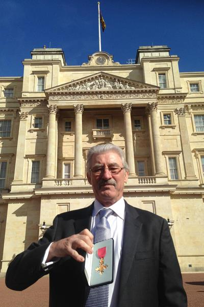 David Bedford with his OBE ()