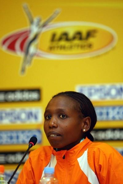 Hilda Kiber of The Netherlands at the LOC press conference in Amman (Getty Images)