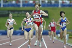 Maria Chapaeva of Russia winning the 800m final (Getty Images)