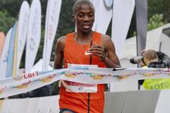 Stephen Mokoka wins the Shanghai Marathon (Organisers)