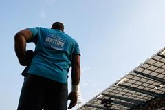Ryan Whiting in action in the Shot at the IAAF Diamond League final in Brussels (Getty Images)