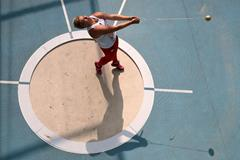 Anita Wlodarczyk in the qualifying round of the women's Hammer at the 2013 IAAF World Championships in Moscow (Getty Images)