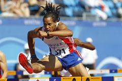 Pascal Martinot-Lagarde flies over the barriers in the 110m Hurdles heats (Getty Images)