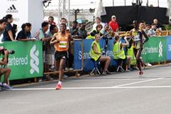 Haile Gebrselassie finishing third over 10km at the 2014 Standard Chartered Marathon Singapore  (Organisers)