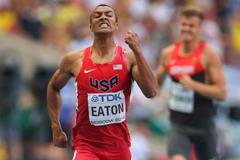 Ashton Eaton in the Decathlon 400m at the 14th IAAF World Athletics Championships Moscow 2013 (Getty Images)