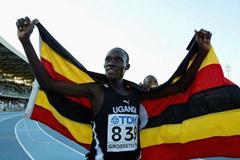 Boniface Kiprop of Uganda celebrates his 10,000m final (Getty Images)