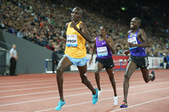 Asbel Kiprop wins the 1500m at the IAAF Diamond League meeting in Zurich (Jean-Pierre Durand)